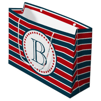 Monogram design large gift bag