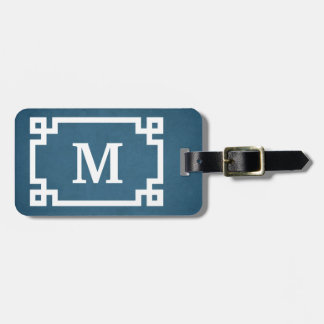 Monogram design luggage tag