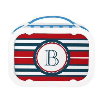 Monogram design lunch box