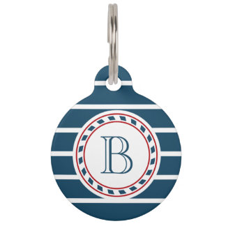 Monogram design pet ID tag