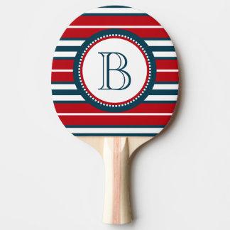 Monogram design ping pong paddle