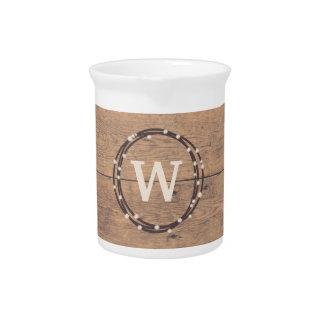 Monogram design pitcher