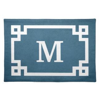 Monogram design placemat