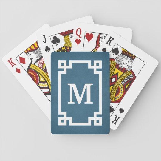 Monogram design playing cards
