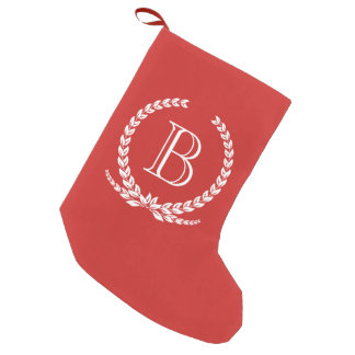 Monogram design small christmas stocking