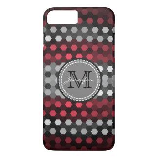 Monogram Desire & Silver Hexagons Pattern iPhone 7 Plus Case