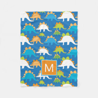 Monogram | Dinosaurs Fleece Blanket