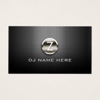 Monogram DJ Professional Steel Metallic Business Card