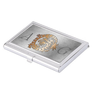 Monogram Dragon Embossed 4 - Business Card Holder
