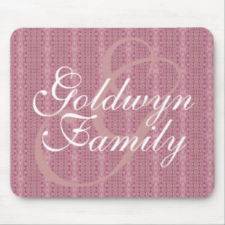 Monogram (Dusty Rose) Family Mouse Pad