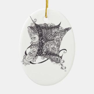 Monogram E Christmas Ornament