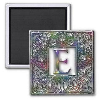 Monogram E Square Magnet