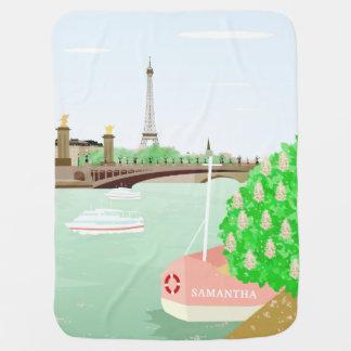 Monogram Eifel Tower Spring in Paris Baby Blanket
