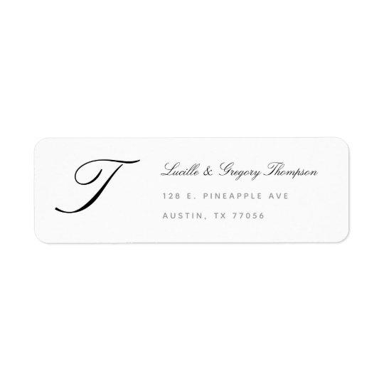 Monogram Elegance Custom Family Return Address