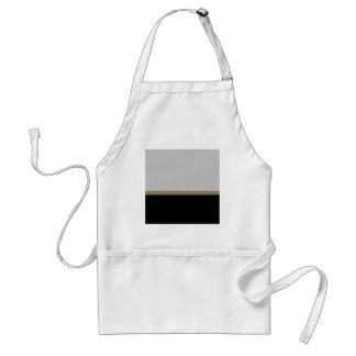 Monogram Elegance in Black Grey Gold Standard Apron