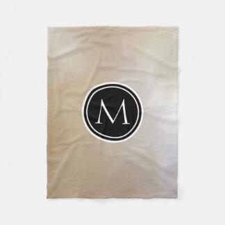 Monogram Elegant and Abstract Background Fleece Blanket
