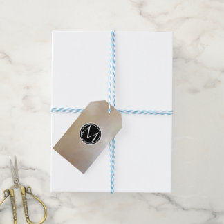 Monogram Elegant and Abstract Background Gift Tags