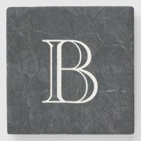 Monogram Elegant Stone Coaster