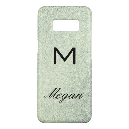 Monogram Elegant Script Boke Glitter Case-Mate Samsung Galaxy S8 Case