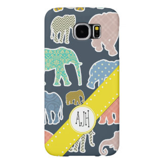 Monogram - Elephants, Polka Dots, Zigzag, Gingham Samsung Galaxy S6 Cases