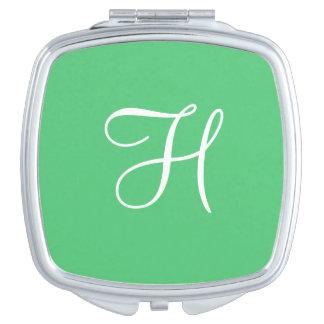 Monogram Emerald Cool Color Coordinated Vanity Mirror