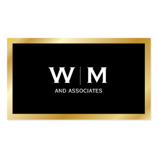 Monogram | Executive Gold Pack Of Standard Business Cards