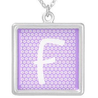 Monogram F Pendants