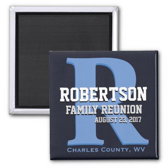 Monogram Family Reunion Square Magnet