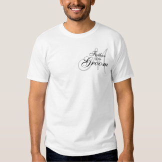 Monogram Father of The Groom Wedding T--Shirt Tees