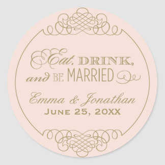 Monogram Favor Sticker | Eat. Drink & Be Married