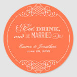 Monogram Favour Sticker | Eat. Drink & Be Married