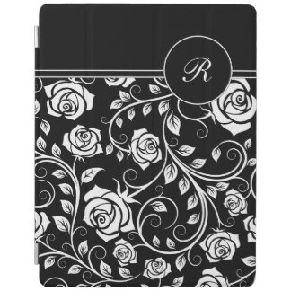 Monogram Floral Damask iPad Case iPad Cover