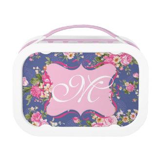 Monogram floral lunch box