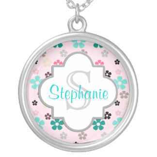 Monogram Floral Personalized Necklace