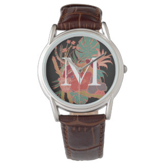 Monogram Floral Personalized Boho Vintage Watch