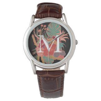 Monogram Floral Personalized Boho Vintage Watch