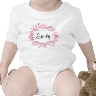 Monogram Floral Personalized Baby Creeper