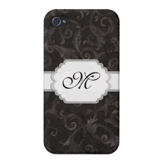 Monogram Floral Print Case For The iPhone 4