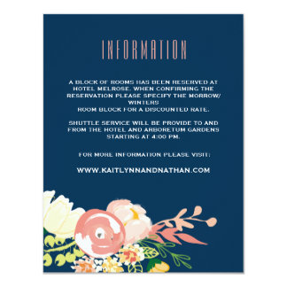 Monogram Floral Wreath | Information Card 11 Cm X 14 Cm Invitation Card