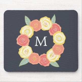 Monogram Floral Wreath | Mousepads