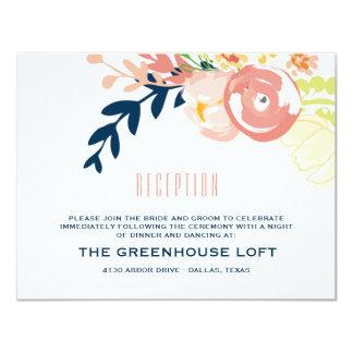 Monogram Floral Wreath   Reception Card 11 Cm X 14 Cm Invitation Card