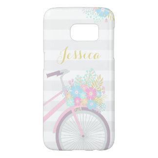 Monogram Flower Bicycle Samsung Galaxy S7 Case