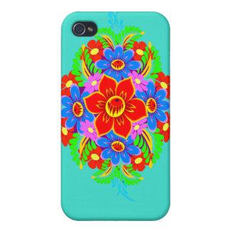 Monogram flower bouquet iphone4 case iPhone 4 cover