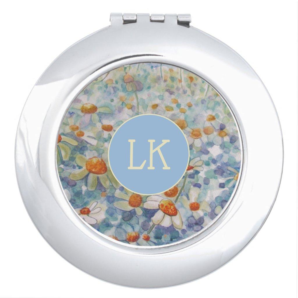 Monogram Flower Compact Mirror