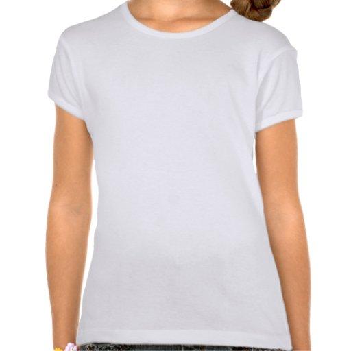 Monogram Flower Girl Wedding T--Shirt