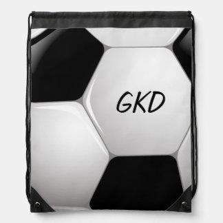 Monogram Football Soccer Ball Drawstring Bag