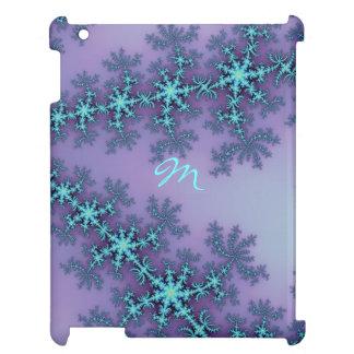 Monogram Fractal in Lavender and Aqua iPad Case
