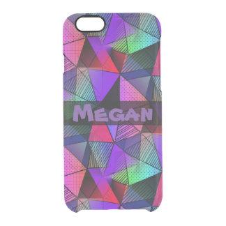 Monogram Fresh Modern Triangles Clear iPhone 6/6S Case