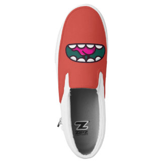 Monogram. Funny Big Mouth Monster. Printed Shoes