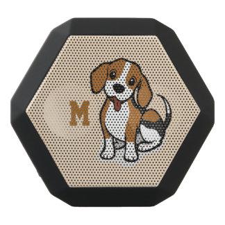Monogram. Funny Cute Little Puppy Dog. Beagle.